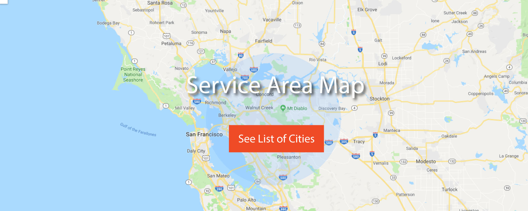 Wire Tech Electric Service Area Map